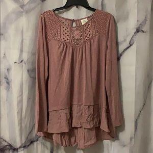 Mauve Lace Shirt!